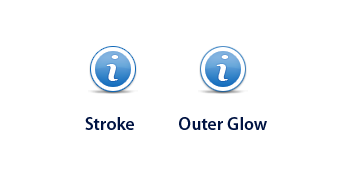 Difference between a normal stroke and outer glow